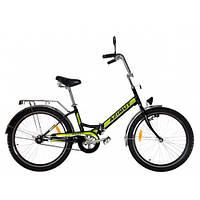 Велосипед 24 дюйма Салют 2409 AZIMUT Салатовий