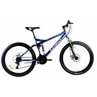 Велосипед 26 дюймів RACE 18*FR/D Azimut Синій