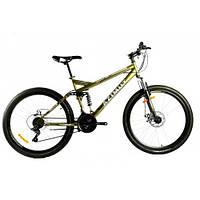 Велосипед 26 дюймів RACE 18*FR/D Azimut Жовтий