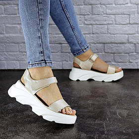 Женские сандалии Fashion Nikki 1814 39 размер 24,5 см Бежевый