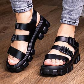 Женские сандалии Fashion Paloma 3019 37 размер 24 см Черный
