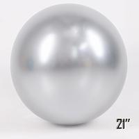 "Шар сюрприз 21"" (52 см) SHOW Brilliance хром Silver (серебро)"