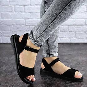 Женские сандалии замшевые Fashion Arun 1895 36 размер 23,5 см Черный