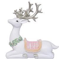 Статуетка (фігурка) Різдвяний олень16см Декор і прикраса для будинку на Новий рік