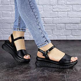 Женские сандалии кожаные Fashion Nux 1892 41 размер 26 см Черный