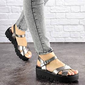Женские сандалии на танкетке Fashion Iris 1649 36 размер 23 см Серый