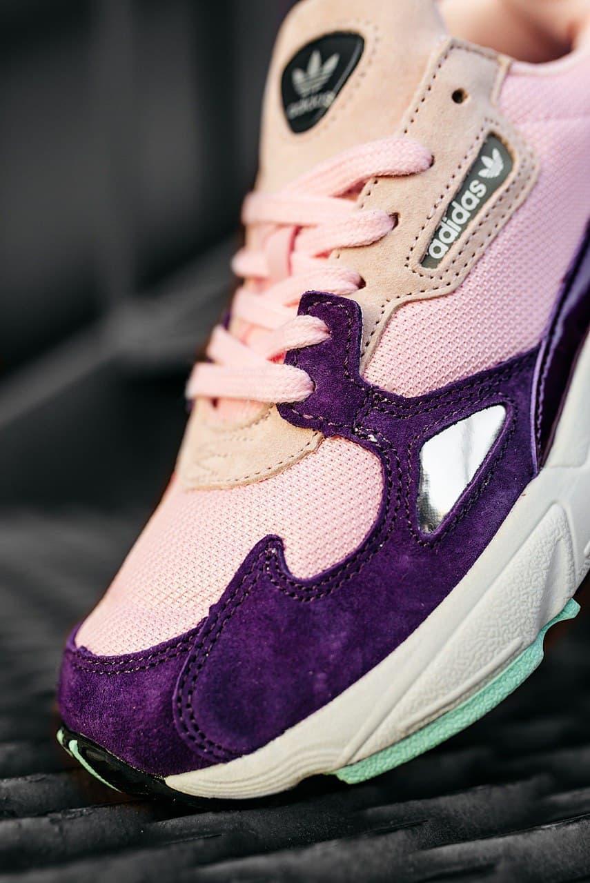 """Жіночі кросівки Adidas Falcon """"PINK/PURPLE/WHITE"""""""
