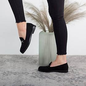 Лоферы женские Fashion Babsy 2588 36 размер 23,5 см Черный