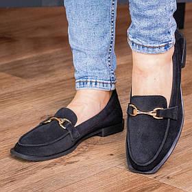 Лоферы женские Fashion Dagmar 2968 36 размер 23,5 см Черный
