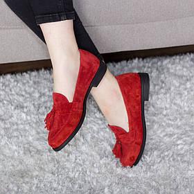 Лоферы женские Fashion Falstaff 2799 36 размер 23,5 см Красный