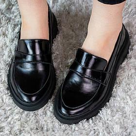 Лоферы женские Fashion Idget 2980 36 размер 23,5 см Черный