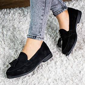 Лоферы женские Fashion Umgow 3015 37 размер 24 см Черный