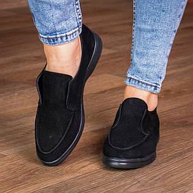 Лоферы женские Fashion Vanna 3008 36 размер 23,5 см Черный