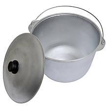 Казан алюмінієвий похідний з кришкою і дужкою на 6 літрів (каструля, казанок туристичний для вогню та мангалу)