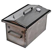 Коптильня горячего копчения 1мм 450х260х210мм с термометром (каптилка,коптилка)