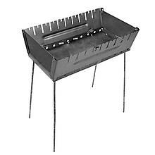 Мангал - чемодан 2 мм на 10 шампуров 570х350х160мм Раскладной Походный