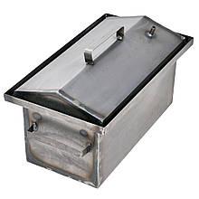 Коптильня гарячого копчення 1мм 450х260х210мм з Гідрозатворів (каганець,каптилка)