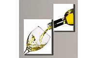 Модульная картина на холсте Белое вино 98х96 см (HAD-010)