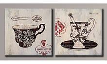 Модульна картина на полотні Чашечки кави 40х82,5 см (HAD-019)