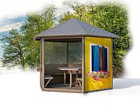 Противомоскитная сетка с люверсами и печатью для дачной беседки, для качелей,  на веранду, балкон, фото 1