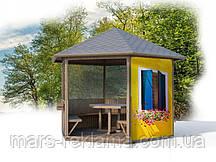 Противомоскитная сетка с люверсами и печатью для дачной беседки, для качелей,  на веранду, балкон