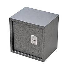 Сейф мебельный металлический для денег бумаг документов 30х30х25 см (Маленький сейф с механическим замком)