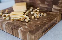 Торцевая разделочная деревянная доска для кухни ПикничОК из дуба 60х40х4 см (Кухонная доска для нарезания)