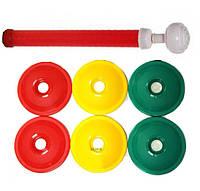 Вакуумные крышки для консервирования 2Life ВАКС 6 шт в комплекте Green/Yellow/Red (n-177)