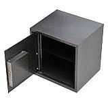 Сейф меблевий металевий для грошей паперів документів 35х35х30 см (Маленький сейф з механічним замком), фото 2