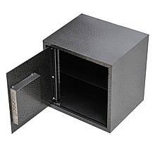 Сейф меблевий металевий для грошей паперів документів 40х40х35 см (Маленький сейф з механічним замком)
