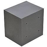 Сейф меблевий металевий для грошей паперів документів 40х40х35 см (Маленький сейф з механічним замком), фото 3