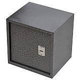 Сейф меблевий металевий для грошей паперів документів 40х40х35 см (Маленький сейф з механічним замком), фото 4