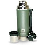 Термос Арктика ударостійкий 1.25 л Уазик з ручкою зелений ( термокружка, термобутылка для чаю і води), фото 2