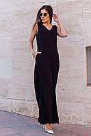 Комбинезон женский свободного кроя So StyleM с брюками Черный