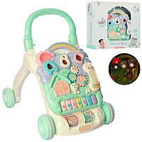 Детский многофункциональный Игровой центр 648A-48 музыкальная каталка-ходунки для малышей