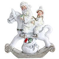 Фігурка (статуетка) Санта і малюк 8,5 см Новорічний декор і прикраса для дому