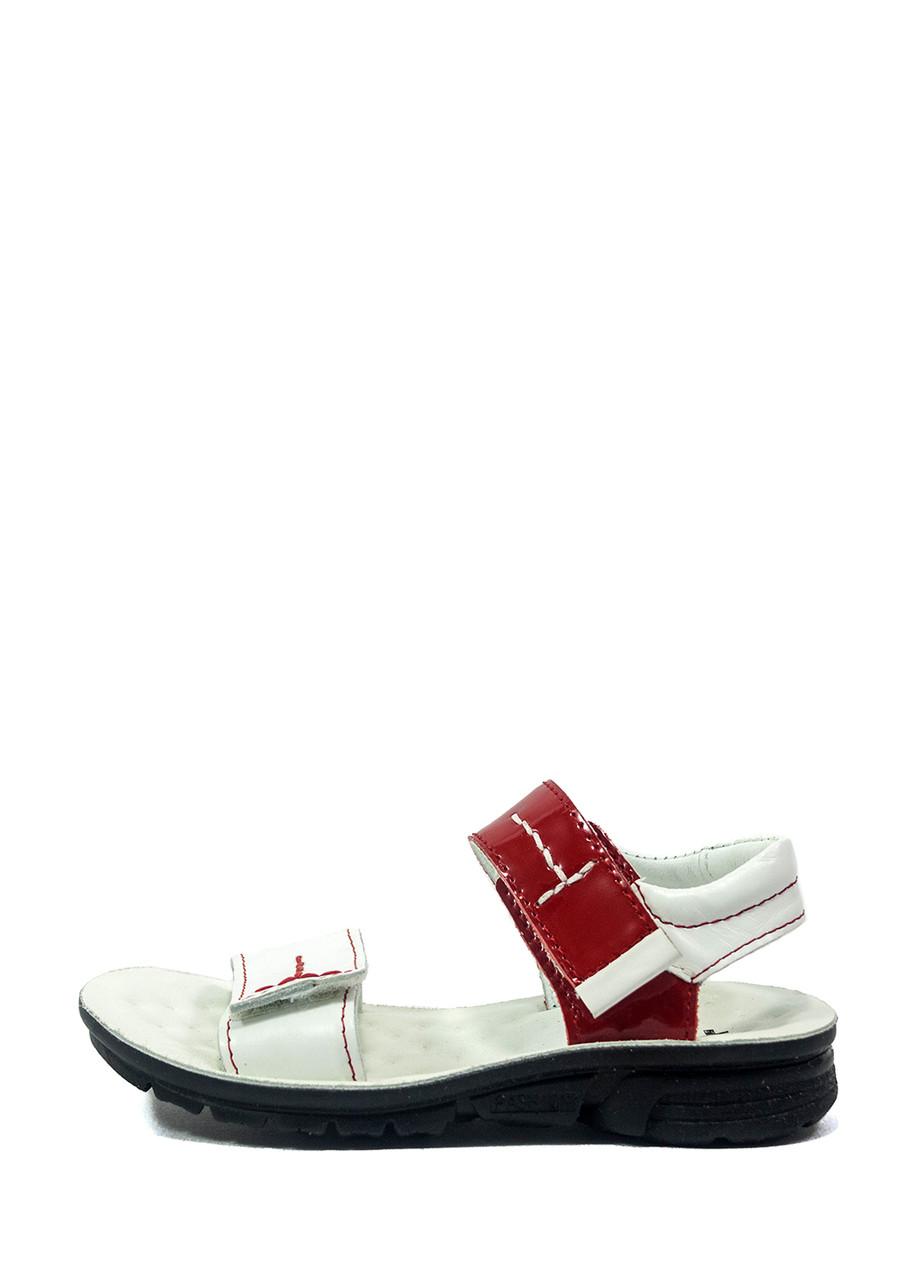 Сандалии для девочек TiBet 008-25-08 бело-красные (26)