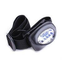 Яркий налобный фонарь на 5 светодиодов LED фонарик