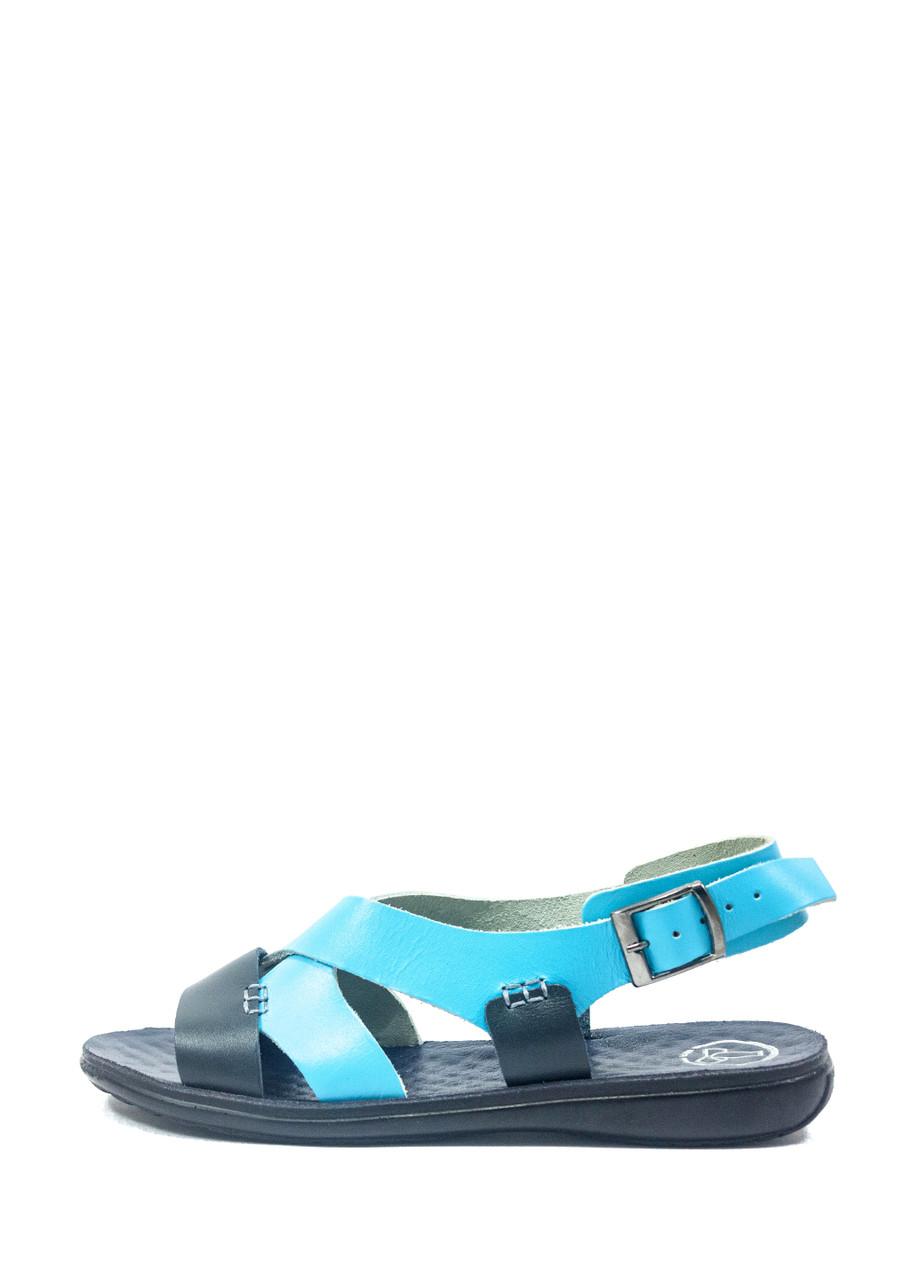 Сандалии женские TiBet 235-03-03-1 сине-голубые (37)