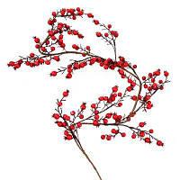 Декоративна прикраса YES! Fun Гілка з червоними ягодами, 150 см (973492)