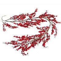 Декоративна прикраса YES! Fun Гілка з червоними ягодами розлога, 150 см (973487)