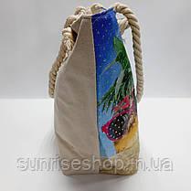 Сумка пляжная текстильная летняя, фото 3