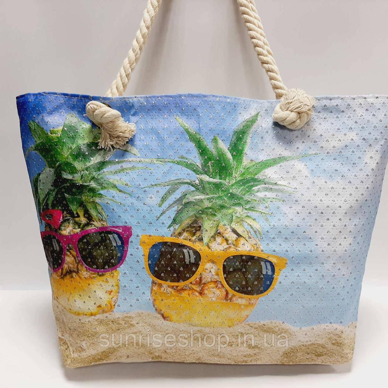 Сумка пляжная текстильная летняя