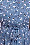 Плаття літнє з відрізний спідницею в квітковий принт Ізольда-1Б к/р, фото 4