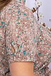 Платье летнее с отрезной юбкой в цветочный принт  Изольда-1Б к/р, фото 4