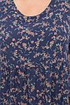 Платье  летнее из софта в цветочный принт с завышенной талией   Ирма-Б к/р, фото 4