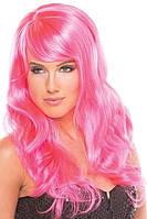 Парик эротический длинные розовые для ролевых игр Be Wicked Wigs Burlesque Wig Сексшоп