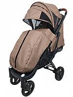 Прогулочная коляска Yoya Plus Max - детская коляска трость для путешествий, бежевый