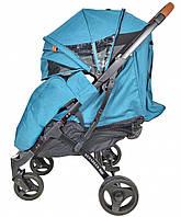 Прогулочная коляска Yoya Plus Max - детская коляска трость для путешествий, бирюзовый