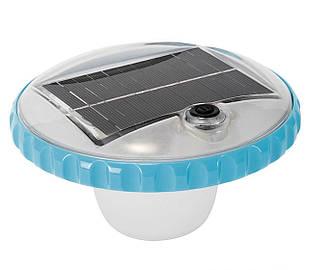Лампа - поплавок Intex 28695, подсветка для бассейна от солнечной батареи